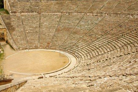 antiguo teatro de Epidauro, Grecia