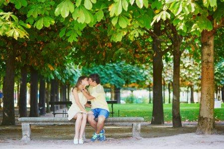 Romantic dating couple in Paris