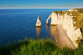 Scenic view of Etretat cliffs