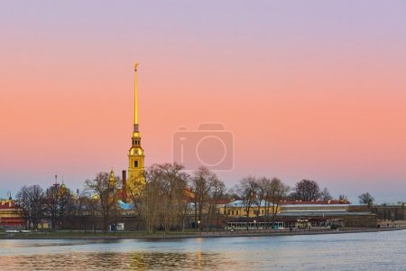 Scenic view of Peter and Paul Fortress in St. Petersburg, Russia
