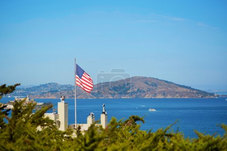 American flag in San Francisco