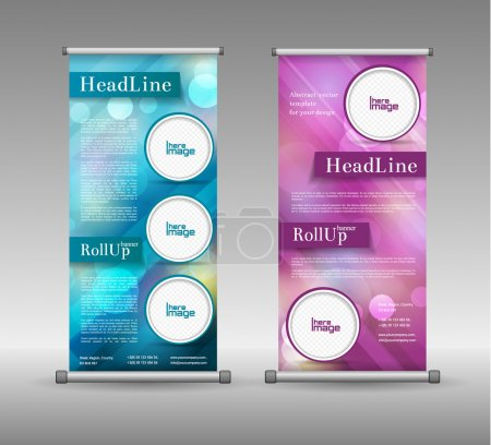 Roll Up Banner Abstract Geometric Colourful Design, Advertising