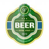 Green beer bottle label template