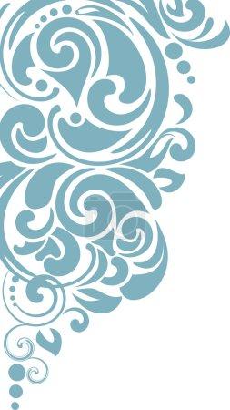 Photo pour Fond de courbe abstrait. Coin décoratif . - image libre de droit