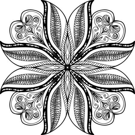 Photo pour Fond dessiné à la main. Mandala. Élément de cercle géométrique . - image libre de droit
