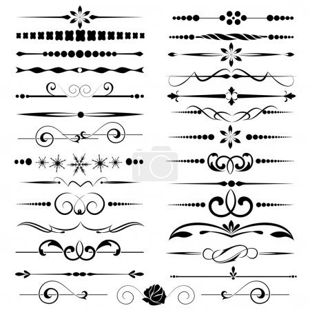 Photo for Set of decorative calligraphic elements for editable and design - Royalty Free Image