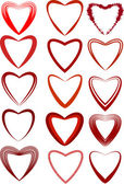 Valentines Day heart-shaped set Vector illustration