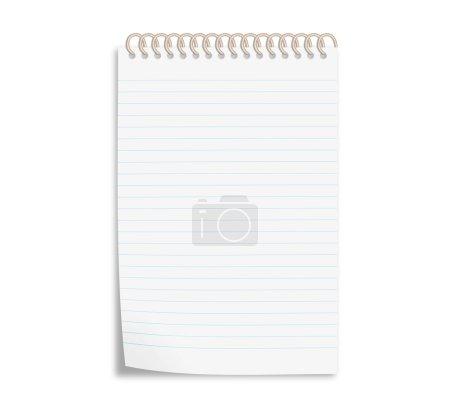 Photo pour Carnet de notes spirale isolé sur blanc - image libre de droit