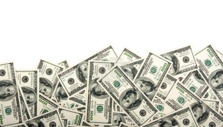 Photo pour Tas de dollars, fond argent - image libre de droit