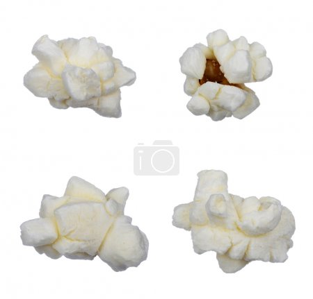 Photo for Pop corn collection isolated on white, clipping path included - Royalty Free Image