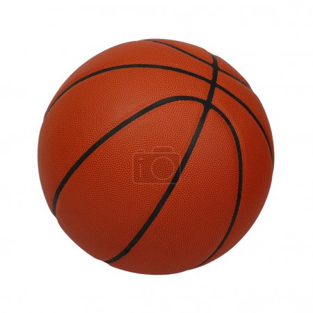 Basketball isolated on a white