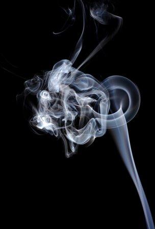 Smoke isolated on black