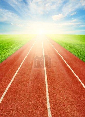 Running track in field