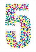 Vector illustration of number five