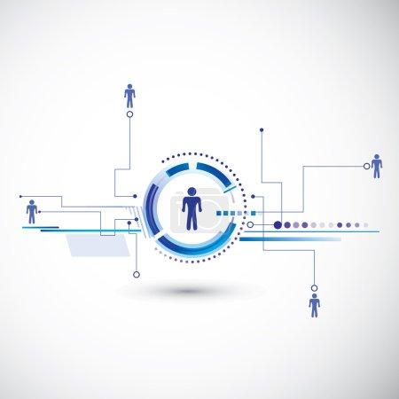 Illustration pour Connexion modèle humain. Vecteur de technologie abstrait pour vous . - image libre de droit