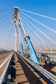 Kirovsky kabelový most přes řeku Samara, Rusko