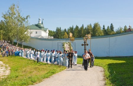 The annual sacred religious procession of Icon of Our Lady of Iv