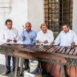 Traditional musicians, Antigua City, Guatemala, Ce...