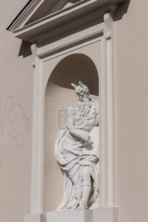Lithuania. Vilnius. Sculpture at the Cathedral of St. Stanislaus