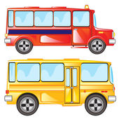 Vector illustration two buses on white background is insulated