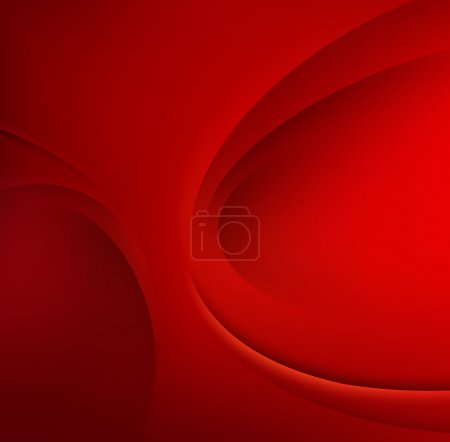 Photo for Red Template Abstract background with curves lines and shadow. For flyer, brochure, booklet and websites design - Royalty Free Image