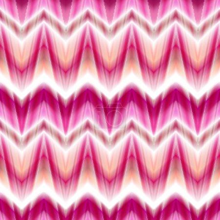Photo for Seamless ikat ethnic pattern. Boho design. Ethnic Colored seamless zigzag patten - Royalty Free Image