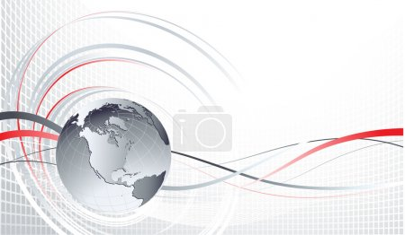 Illustration for Vector Abstract background with globe - Royalty Free Image