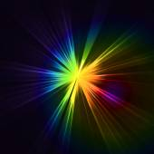 Abstract flash star light Colorful exploding
