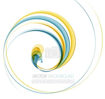 Illustration pour Vector Résumé torsion ondes fond. Modèle conception de brochure - image libre de droit