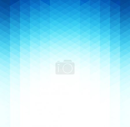 Illustration for Vector Abstract blue geometric background. Template brochure design - Royalty Free Image
