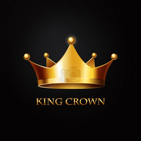 Gold Crown  on black