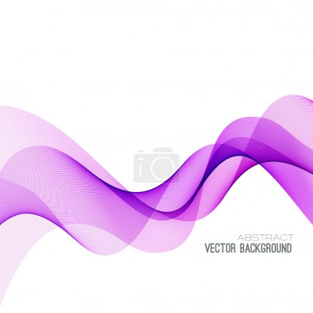 Illustration for Vector Abstract pink color curved lines background. Template brochure design - Royalty Free Image