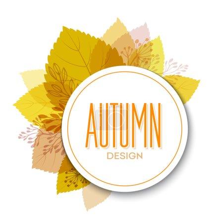 Illustration pour Fond d'automne avec des feuilles. Illustration vectorielle Eps10 - image libre de droit
