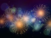 Vektorové svátek ohňostrojů pozadí