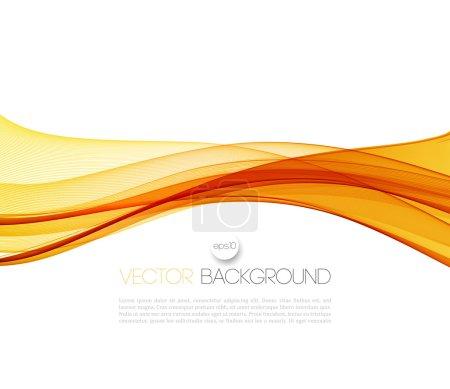Illustration pour Vector Abstrait orange lignes courbes fond. Modèle conception de brochure - image libre de droit