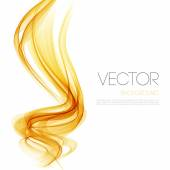 Vector Abstract  Orange curved lines background Template brochure design