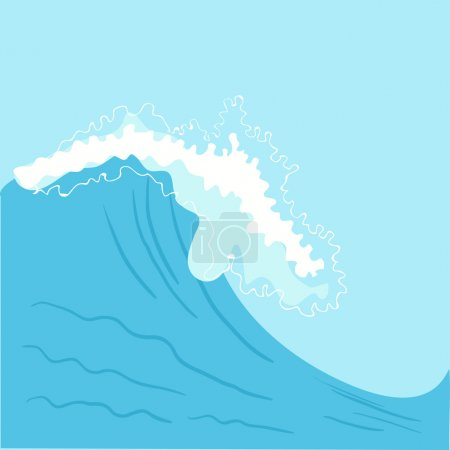 Blue High sea wave