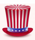 Presidents Day Washingtons Birthday Uncle Sams hat