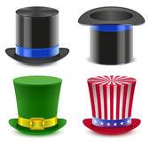 Set hat magician cylinder Uncle Sams hat