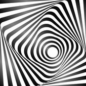 Illusion of wavy rotation movement Op art design Vector art