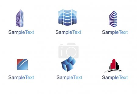 Illustration for Various colorful architectural and construction icons for your designs. - Royalty Free Image