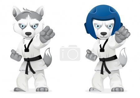 cartoon husky dogs