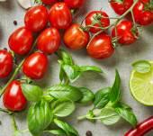 Постер свежие сырые овощи