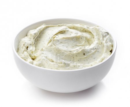 cream cheese with herbs
