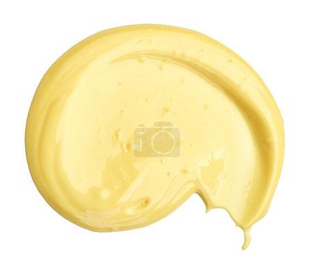 mayonnaise on white background