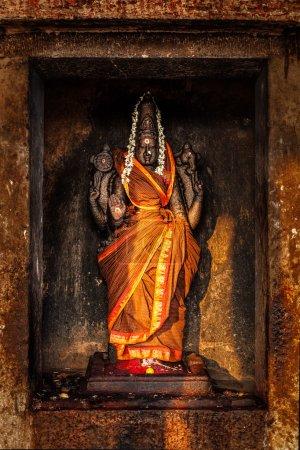 Durga image in Hindu temple