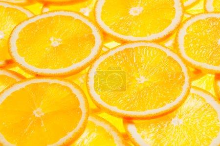 Photo pour Tranches d'agrumes orange coloré fond rétro-éclairé - image libre de droit