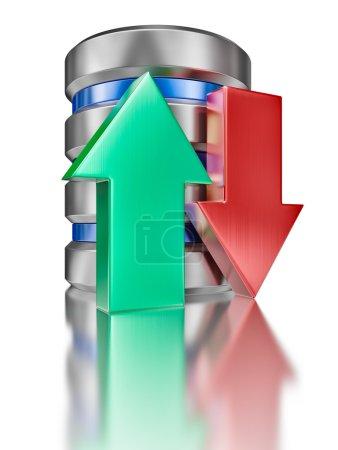 Hard disk drive data storage database icon symbol
