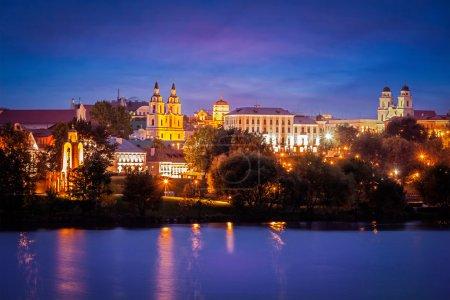 Abendliche Ansicht der Minsker Stadtlandschaft