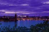 Stockholm city view after sunset